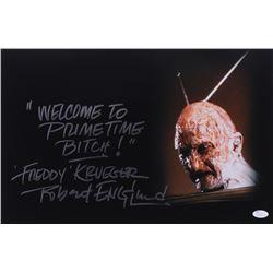 "Robert Englund Signed ""Nightmare on Elm Street"" 12x18 Photo with (2) Inscriptions (JSA COA)"