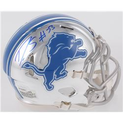 Darius Slay Signed Detroit Lions Chrome Speed Mini Helmet (JSA COA)