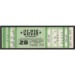 """1977 """"Elvis in Concert"""" Ticket"""