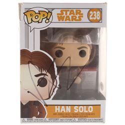 "Alden Ehrenreich Signed ""Star Wars"" Han Solo #238 Funko Pop! Vinyl Figure (PSA COA)"