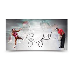 Tiger Woods  Serena Williams Signed 18x36 Limited Edition Photo (UDA COA)