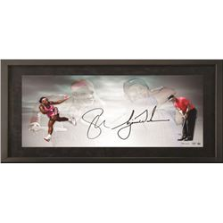 Tiger Woods  Serena Williams Signed 18x36 Custom Framed Limited Edition Photo (UDA COA)