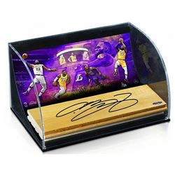 LeBron James Signed 11x7x5.5 Limited Edition Game-Used Floor Piece with Curved Display (UDA COA)