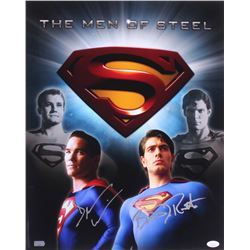 "Dean Cain  Brandon Routh Signed Superman ""The Men of Steel"" 16x20 Photo (JSA COA)"
