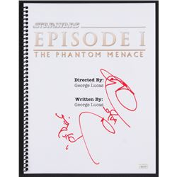 """Ray Park Signed """"Star Wars: Episode I – The Phantom Menace"""" Movie Script Inscribed """"Sith Rule"""" (JS"""