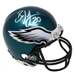 Brian Dawkins Signed Philadelphia Eagles Mini Helmet (JSA COA)