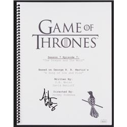 """Aidan Gillen Signed """"Game of Thrones: The Dragon and The Wolf"""" Episode Script (JSA COA)"""