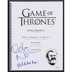 """Kristian Nairn Signed """"Game of Thrones: The Door"""" Episode Script Inscribed """"Hold the Door!"""" (JSA COA"""