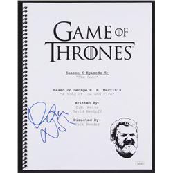 """Kristian Nairn Signed """"Game of Thrones: The Door"""" Episode Script (JSA COA)"""