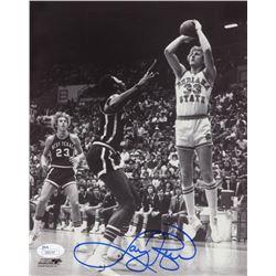 Larry Bird Signed Indiana State Sycamores 8x10 Photo (JSA COA)
