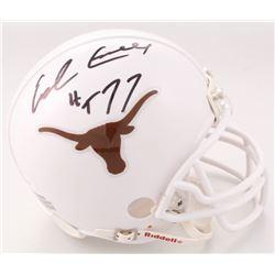 "Earl Campbell Signed Texas Longhorns Mini Helmet Inscribed ""HT 77"" (JSA COA)"