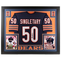 Mike Singletary Signed  35x43 Custom Framed Jersey (Beckett COA)