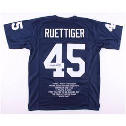 Rudy Ruettiger Signed Notre Dame Fighting Irish Career Highlight Stat Jersey (JSA COA)