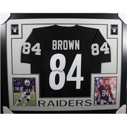 Antonio Brown Signed 35x43 Custom Framed Jersey (JSA COA)
