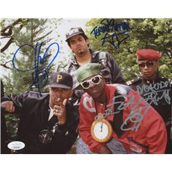Public Enemy 8x10 Photo Signed by (4) with Chuck D, Flavor Flav, Terminator X  Professor Griff (JSA