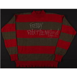 "Robert Englund Signed ""A Nightmare on Elm Street"" Freddy Krueger Costume Sweater Inscribed ""Freddy """