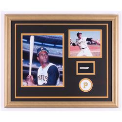 Roberto Clemente 18x22 Custom Framed Display with (1) Hand-Written Word From Letter (JSA LOA Copy)