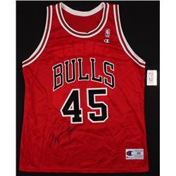 Michael Jordan Signed Chicago Bulls Jersey (PSA LOA)