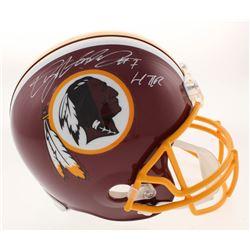 """Dwayne Haskins Signed Washington Redskins Full-Size Helmet Inscribed """"HTTR"""" (JSA COA)"""