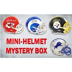 Schwartz Sports Football Superstar Signed Mystery Box Mini Helmet - Series 14 (Limited to 100)