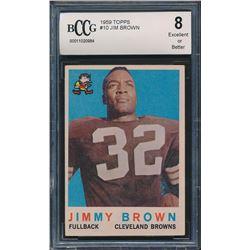 1959 Topps #10 Jim Brown (BCCG 8)