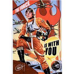 "Greg Horn Signed ""Star Wars"" 13x19 Lithograph (JSA COA)"