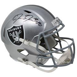 Josh Jacobs Signed Oakland Raiders Full-Size Speed Helmet (Beckett COA  Jacobs Hologram)