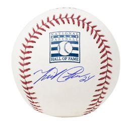 Miguel Cabrera Signed OML Hall of Fame Logo Baseball (JSA COA)