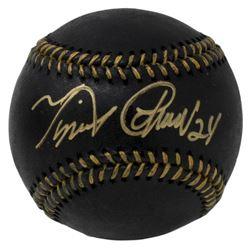 Miguel Cabrera Signed OML Black Leather Baseball (JSA COA)