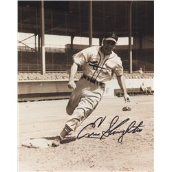 Enos Slaughter Signed Cardinals 8x10 Photo (Slaughter Collection LOP)