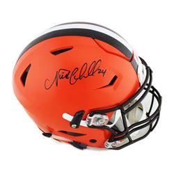 Nick Chubb Signed Cleveland Browns Full-Size Authentic On-Field SpeedFlex Helmet (Radtke COA)