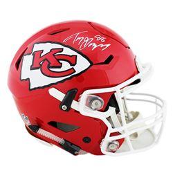 Tony Gonzalez Signed Kansas City Chiefs Full-Size Authentic On-Field SpeedFlex Helmet (Radtke COA)