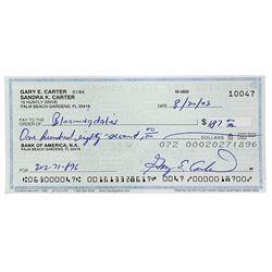 Gary Carter Signed Personal Bank Check (Sports Integrity COA)