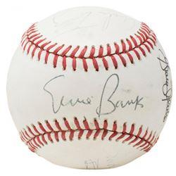 ONL Baseball Signed By (5) with Ernie Banks, Mike Torrez, Rennie Stennett, Graig Nettles  Sadaharu O