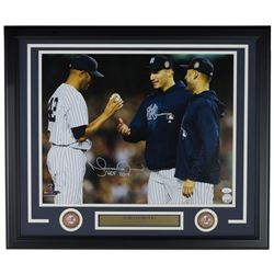 "Mariano Rivera Signed New York Yankees 22x27 Custom Framed Photo Display Inscribed ""HOF 2019"" (JSA C"