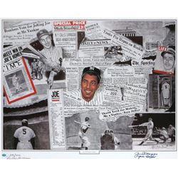 "Joe DiMaggio Signed AP New York Yankees 26.5x32 Lithograph Inscribed ""The Clipper"" (JSA LOA)"