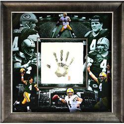 Brett Favre Signed Packers 36x36 Custom Framed Limited Edition Tegata Display (UDA COA)