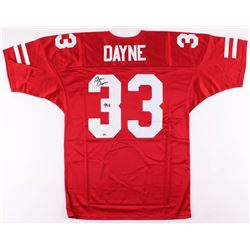 "Ron Dayne Signed Wisconsin Badgers Jersey Inscribed ""99 H"" (Radtke COA)"