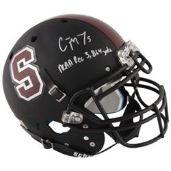 """Christian McCaffrey Signed Stanford Cardinals Full-Size Authentic On-Field Helmet Inscribed """"NCAA Re"""
