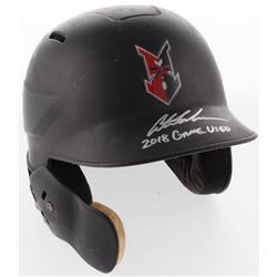 """Austin Meadows Signed Indianapolis Indians Game-Used Authentic Full-Size Batting Helmet Inscribed """"2"""