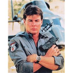 "Jan-Michael Vincent Signed ""Airwolf"" 11x14 Photo (JSA COA)"
