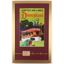 Disneyland 17x27 Custom Framed Print Display with Coins  Ticket