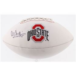 "Archie Griffin Signed Ohio State Buckeyes Logo Football Inscribed ""H.T. 1974/75"" (Radtke COA)"