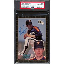 Nolan Ryan Signed 1985 Donruss #20 Action All-Stars (PSA Encapsulated)