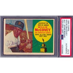 Willie McCovey Signed 1960 Topps #316 All-Star Rookie RC (PSA Encapsulated)