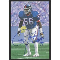 Lawrence Taylor Signed 1999 LE New York Giants 4x6 Pro Football Hall of Fame Art Collection Card Ins