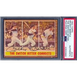 Mickey Mantle Signed 1962 Topps #318 (PSA Encapsulated)