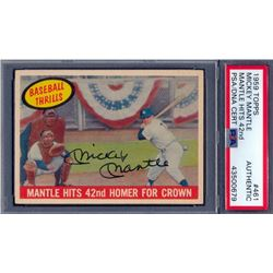Mickey Mantle Signed 1959 Topps #461 (PSA Encapsulated)