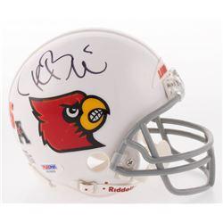 Teddy Bridgewater Signed Louisville State Cardinals Mini Helmet (PSA COA)