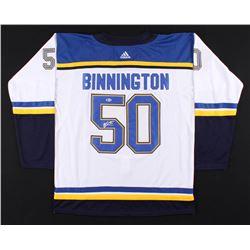 Jordan Binnington Signed 2019 Stanley Cup Finals St. Louis Blues Jersey (Beckett COA)